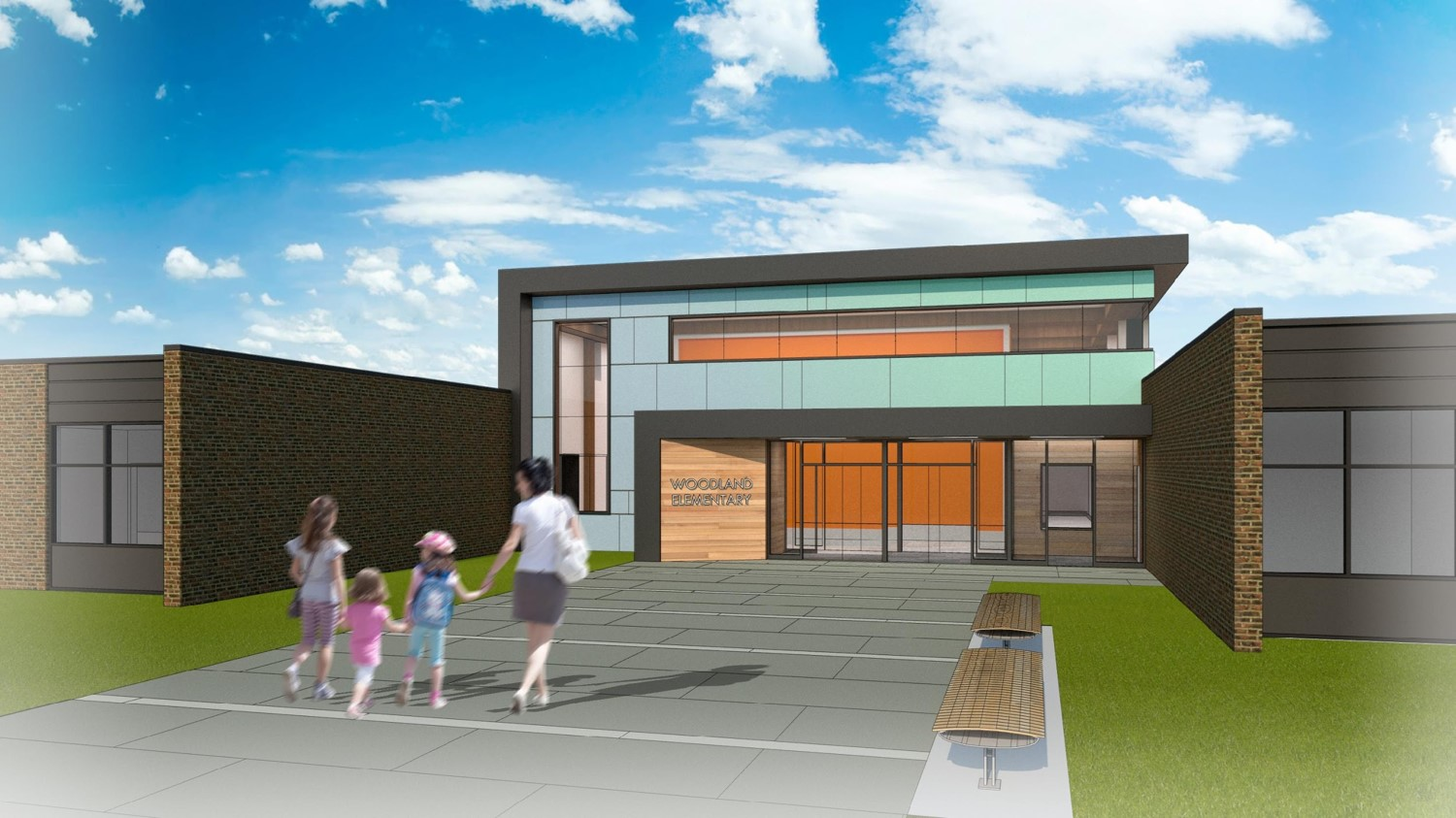 Woodland: Proposed Entrance Rendering